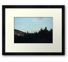 Mt Shasta - winter snow cap Framed Print