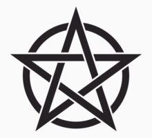 Black Pentagram Kids Tee