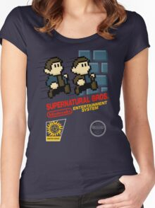 Supernatural Bros. Box Art Women's Fitted Scoop T-Shirt