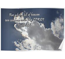 """Psalm 89:6"" by Carter L. Shepard""  Poster"