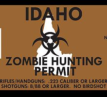 Zombie Hunting Permit - IDAHO by SMALLBRUSHES
