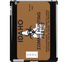 Zombie Hunting Permit - IDAHO iPad Case/Skin
