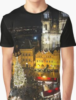 Prague Old Town Square in christmas Graphic T-Shirt