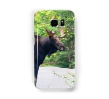 Maine Bull Moose on the road Samsung Galaxy Case/Skin