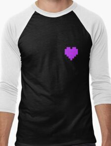 Broken Pixel - Perseverance Pixel Heart Men's Baseball ¾ T-Shirt