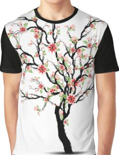 Cherry Blossoms Tree Graphic T-Shirt
