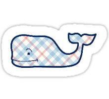 plaid vineyard vines whale Sticker