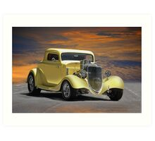 1934 Ford Coupe w Fuel Injection Art Print
