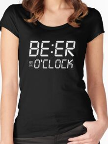 Beer O'clock Women's Fitted Scoop T-Shirt