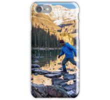 Sid Skipping Over Lake OHara iPhone Case/Skin