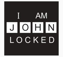 I AM JOHNLOCKED Print Baby Tee