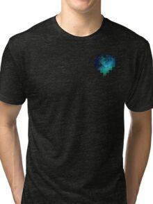 Broken Pixel - Galaxy Pixel Heart Tri-blend T-Shirt