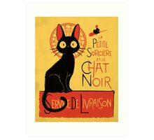 La Petite Sociere et le Chat Noir - Service de Livraison Art Print