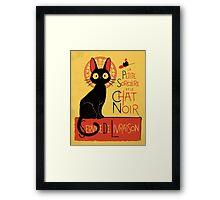 La Petite Sociere et le Chat Noir - Service de Livraison Framed Print