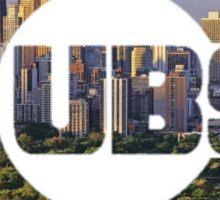 Chicago Cubs Skyline Logo Sticker