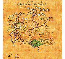 Fantasy Map of the Northlands Photographic Print