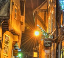 The Shambles York @ Night Sticker