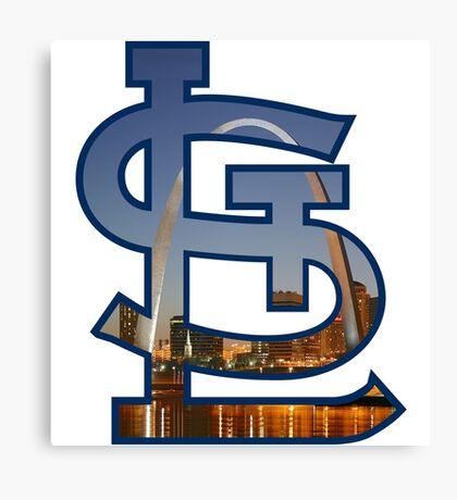 St Louis Cardinals Arch Logo Canvas Print