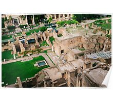 Forum Romanum From Above Poster