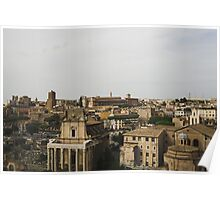 Old Ruins Of Rome Poster