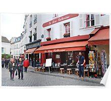Place du Tertre, Paris Poster