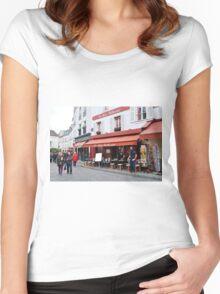 Place du Tertre, Paris Women's Fitted Scoop T-Shirt