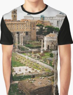 Forum Romanum Vertical Graphic T-Shirt