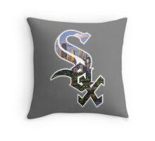 Chicago White Sox Skyline Logo Throw Pillow