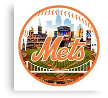 New York Mets Stadium Logo Canvas Print