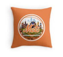 New York Mets Stadium Logo Throw Pillow