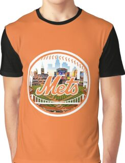 New York Mets Stadium Logo Graphic T-Shirt