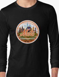 New York Mets Stadium Logo Long Sleeve T-Shirt