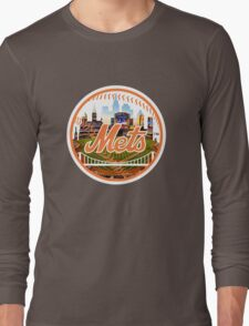 New York Mets Stadium Logo Long Sleeve T-Shirt