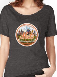 New York Mets Stadium Logo Women's Relaxed Fit T-Shirt