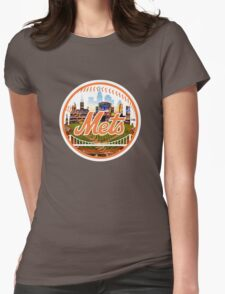New York Mets Stadium Logo Womens Fitted T-Shirt