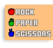 Rock-paper-scissors Canvas Print