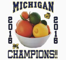 Michigan! Bowl CHAMPIONS AGAIN!!!! One Piece - Short Sleeve