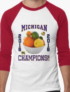 Michigan! Bowl CHAMPIONS AGAIN!!!! Men's Baseball ¾ T-Shirt