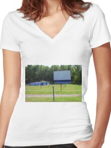 Drive-In Theater Women's Fitted V-Neck T-Shirt