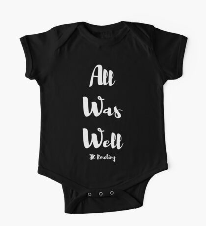 All Was Well One Piece - Short Sleeve