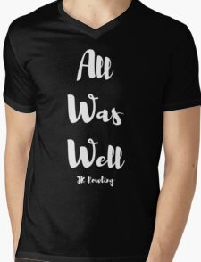 All Was Well Mens V-Neck T-Shirt
