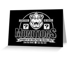 Mushroom Kingdom Munitions Greeting Card