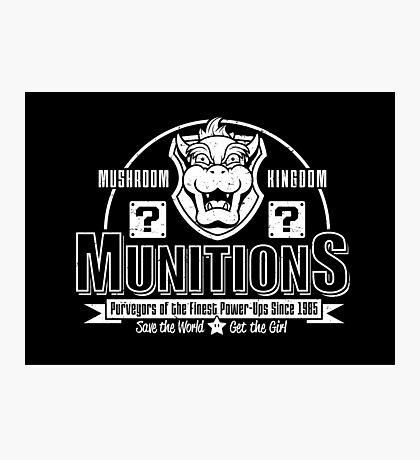 Mushroom Kingdom Munitions Photographic Print
