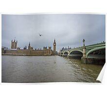 Big Ben and Westminster Bridge Poster
