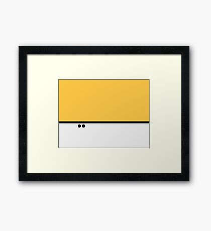 Broken Pixel - Genius Alphys Framed Print