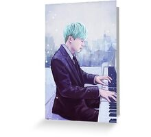 Piano Man Yoongi Greeting Card