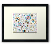 Multi colored Circles Framed Print