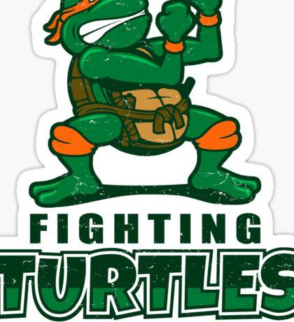 Fighting Turtles - Michelangelo Sticker