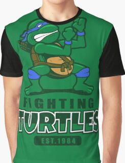 Fighting Turtles - Leonardo Graphic T-Shirt