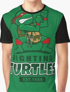 Fighting Turtles Graphic T-Shirt
